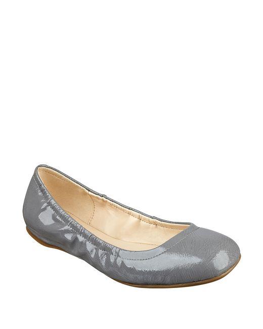 Nine West | Gray Goalie Ballet Flats | Lyst