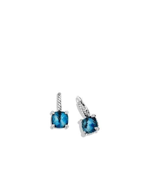 David Yurman Ch 226 Telaine Drop Earrings With Hampton Blue