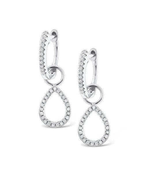 KC Designs | White 14k Gold And Diamond Teardrop Earrings | Lyst