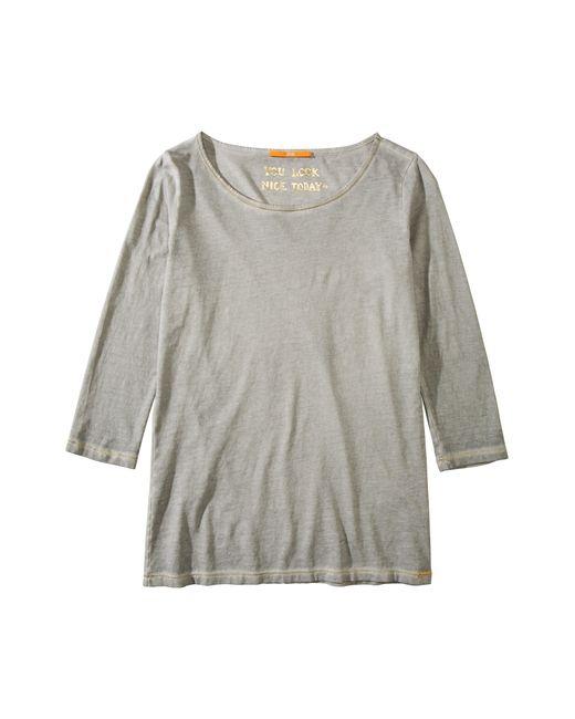 BOSS Orange | Gray Cotton T-shirt 'tasfias' | Lyst