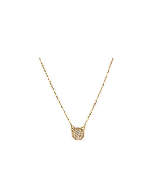 Melinda Maria | Metallic Cade Pave Necklace | Lyst