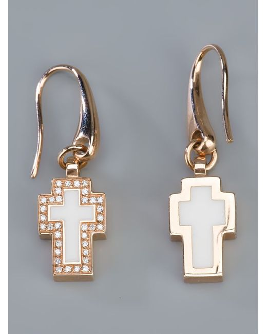 Gavello | Pink Cross Diamond Earrings | Lyst