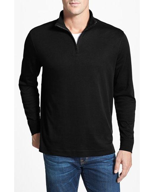 Cutter & Buck | Black 'belfair' Quarter Zip Pullover for Men | Lyst