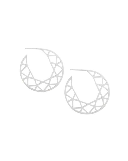 Myia Bonner | Metallic Silver Brilliant Diamond Hoop Earrings | Lyst