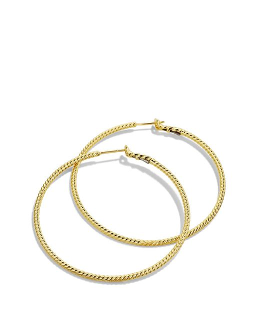 David Yurman | Yellow Cable Classics Hoop Earrings In Gold | Lyst