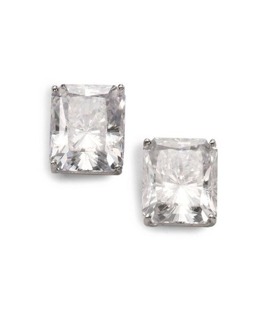 Adriana Orsini | Metallic Faceted Stud Earrings | Lyst