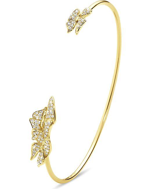 Georg Jensen | Askill 18ct Yellow-gold And Diamond Bangle | Lyst