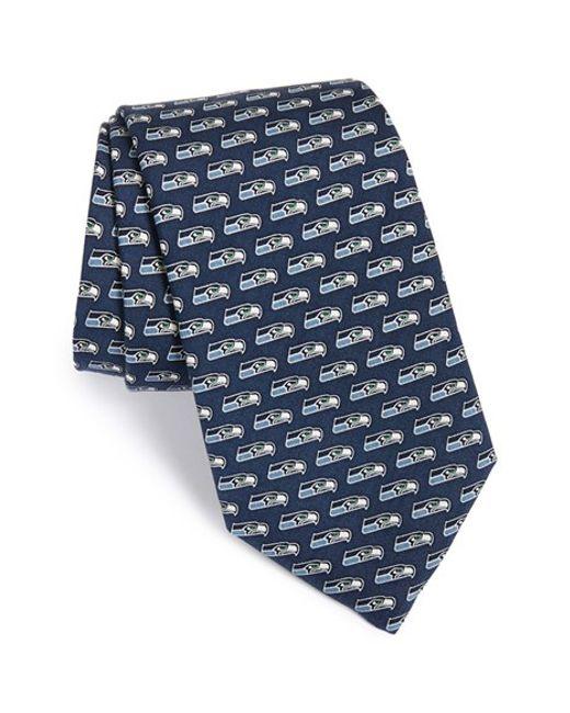 vineyard vines seattle seahawks nfl woven silk tie in