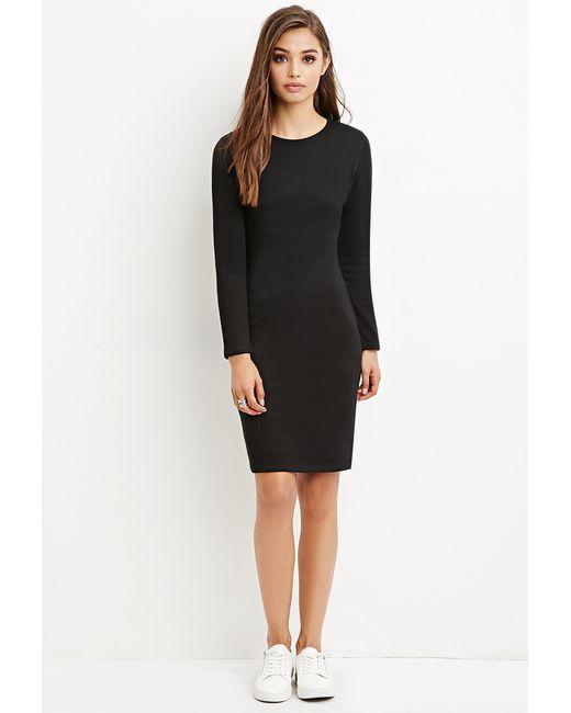 Forever 21 | Black Knee-length Bodycon Dress | Lyst