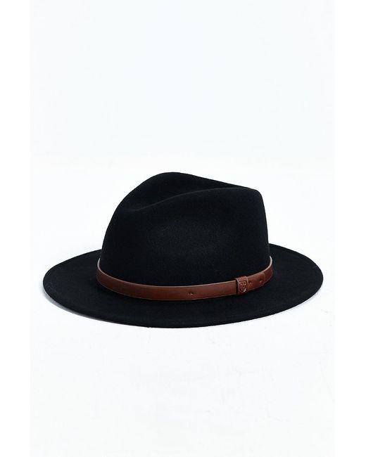 Brixton | Black Messer Fedora Hat for Men | Lyst