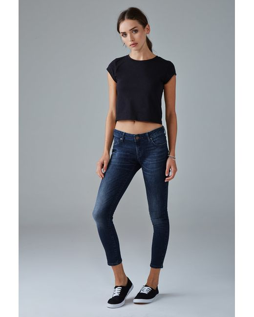 Forever 21 | Blue Low-rise Skinny Ankle Jeans | Lyst