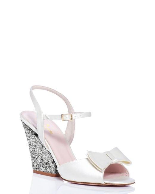 Kate Spade | White Imari Heels | Lyst