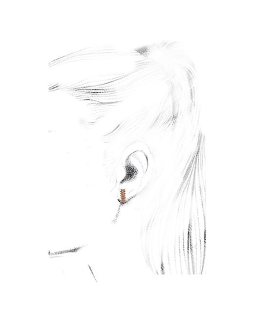 Eva Fehren | Pink Zipper Studs | Lyst