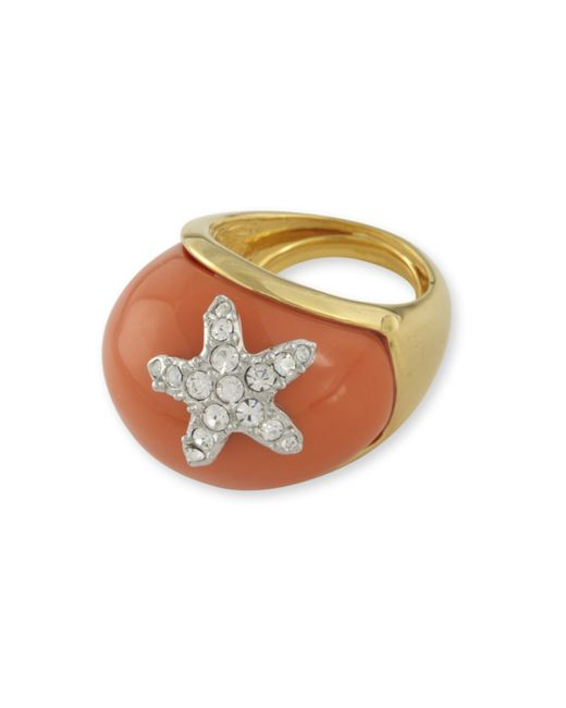 Kenneth Jay Lane | Pink Coral Starfish Ring | Lyst