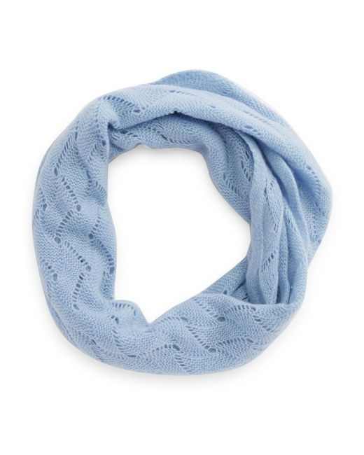 Lord & Taylor | Blue Pointelle Cashmere Scarf | Lyst
