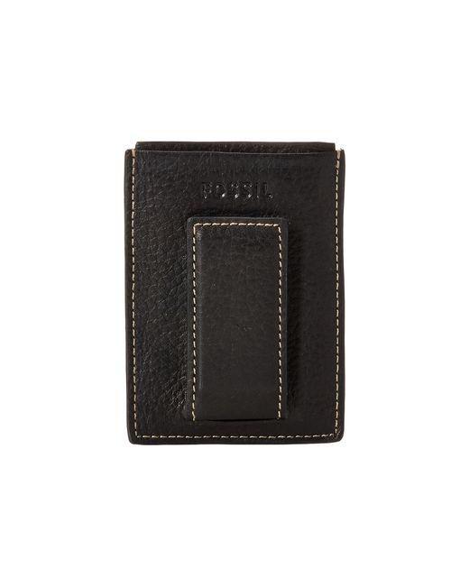 Fossil | Black Lincoln Magnetic Card Case for Men | Lyst