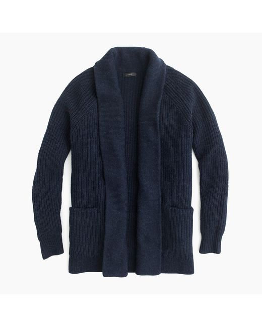 J.Crew | Blue Open Cardigan Sweater | Lyst