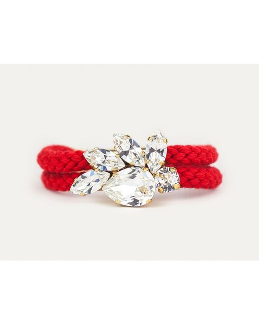 Sabrina Dehoff | Red Double Cord Royal Crown Bracelet | Lyst