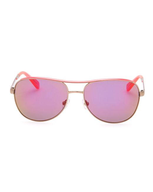 2c468f99aa Kate Spade Women s Ally Polarized Aviator Sunglasses - Bitterroot ...