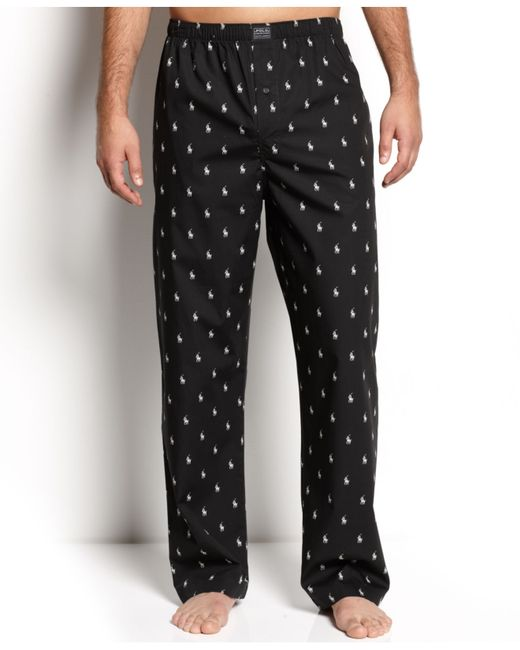 Polo Ralph Lauren | Black Men's Polo Player Pajama Pants for Men | Lyst