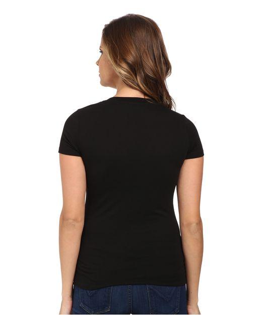 lacoste short sleeve cotton jersey v neck tee shirt in. Black Bedroom Furniture Sets. Home Design Ideas