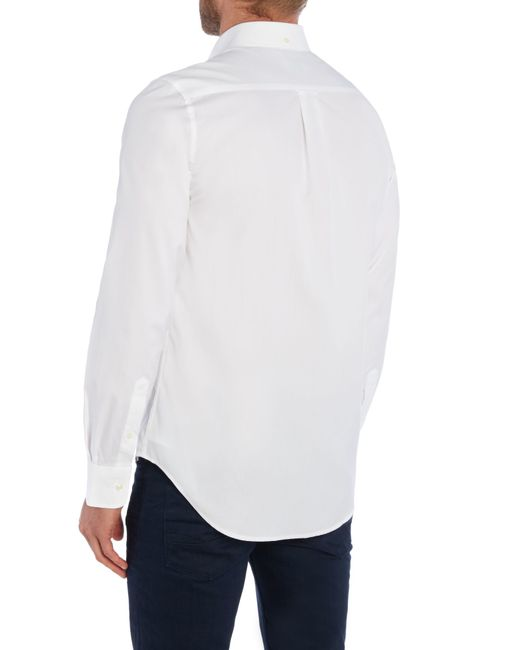 GANT | White Diamond G Fully Fitted Oxford Pin Point Shirt for Men | Lyst