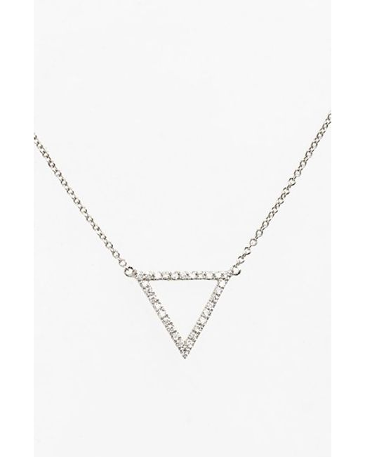 Bony Levy | Metallic 'prism' Diamond Small Triangle Pendant Necklace (nordstrom Exclusive) | Lyst