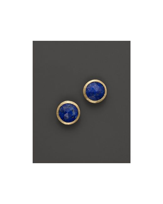 Marco Bicego   Blue 18k Yellow Gold Lapis Stud Earrings   Lyst