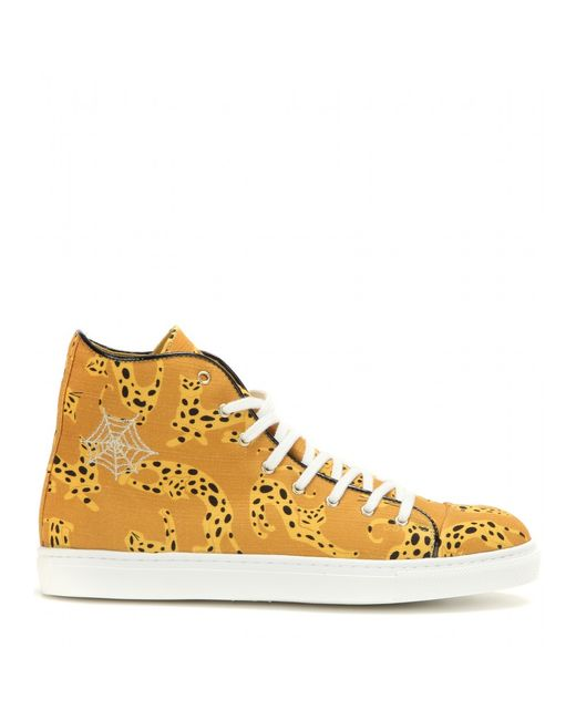 Charlotte olympia web embroidered high top sneakers in