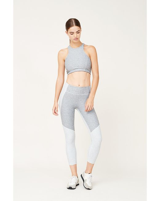 Outdoor Voices | Gray 3/4 Two-tone Warmup Legging | Lyst