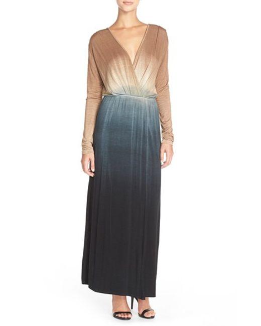 Fraiche By J | Multicolor Tie-Dye Faux-Wrap Maxi Dress | Lyst