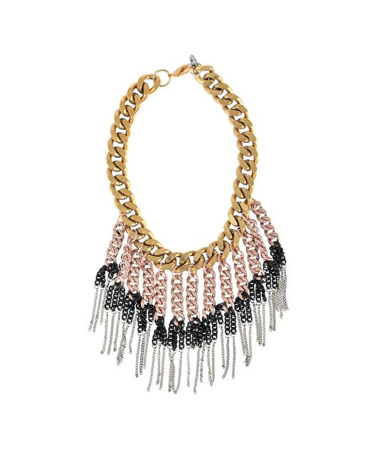 Ela Stone | Pink Maggie Plastron Necklace | Lyst