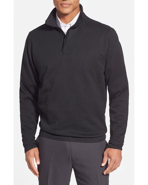 Cutter & Buck | Black 'decatur' Quarter Zip Pullover for Men | Lyst