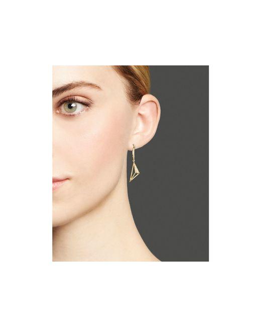 KC Designs   Metallic Diamond Pyramid Drop Earrings In 14k Yellow Gold   Lyst