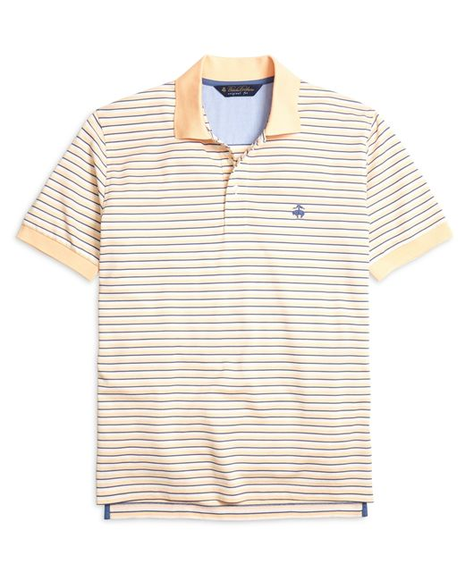 Brooks Brothers   Orange Original Fit Variegated Stripe Polo Shirt for Men   Lyst