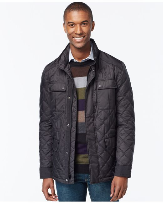 Michael Kors | Black Michael Quilted Filed Coat for Men | Lyst