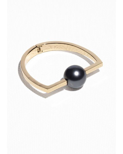 & Other Stories | Black Pearl Bead Bangle | Lyst