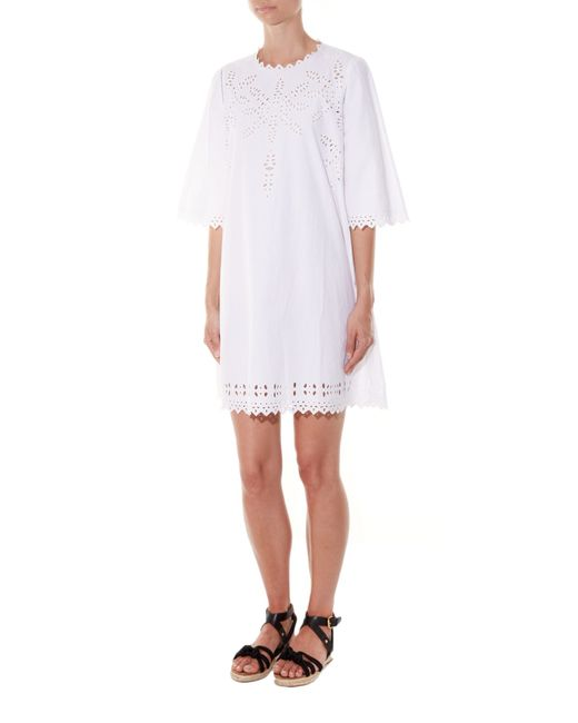 Étoile isabel marant domino embroidered cut out dress in