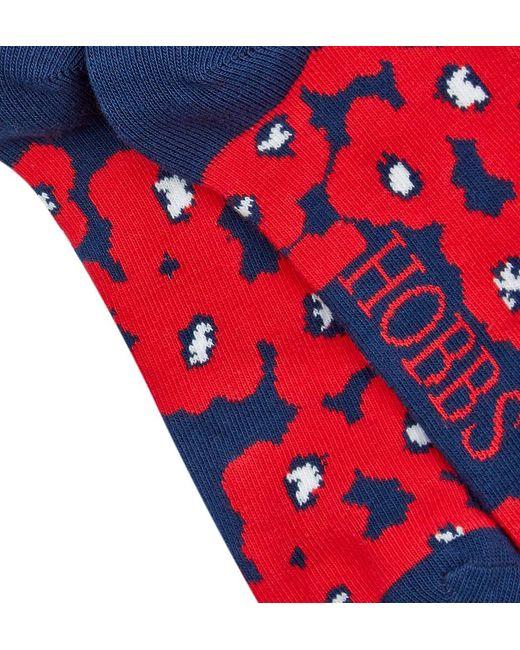 Hobbs   Blue Poppy Sock   Lyst