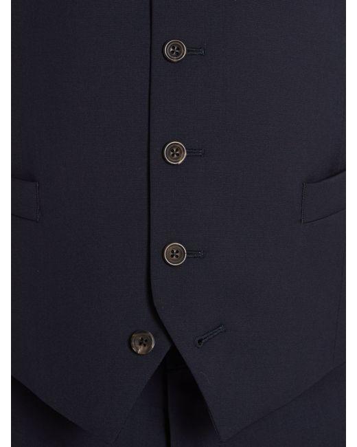 Chester Barrie | Blue Plain Tailored Fit Waistcoat for Men | Lyst