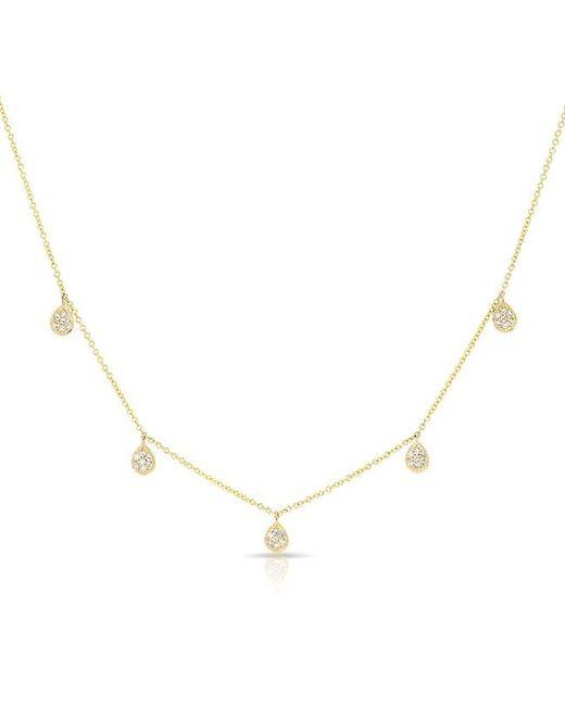 Anne Sisteron - Metallic 14kt Yellow Gold Diamond Sparkle Necklace - Lyst