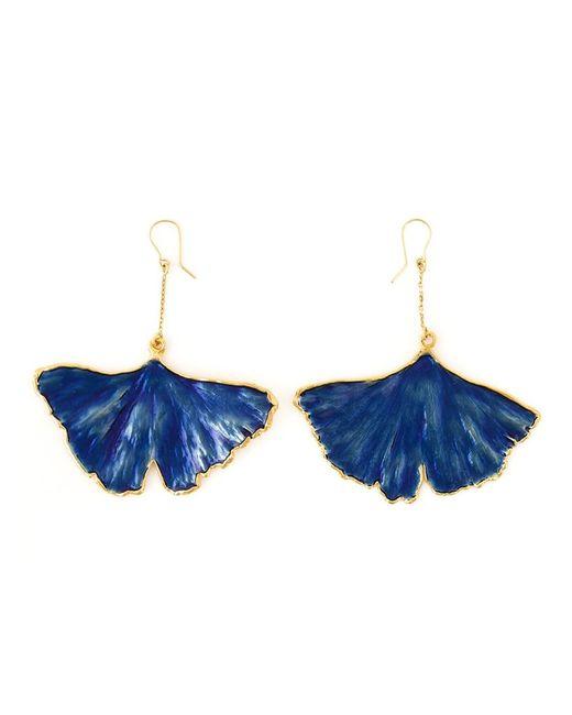 Aurelie Bidermann   Blue 'ginkgo' Earrings   Lyst