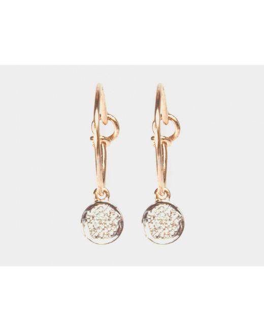 i+i | Metallic Diamond Circle Hoop Earrings | Lyst