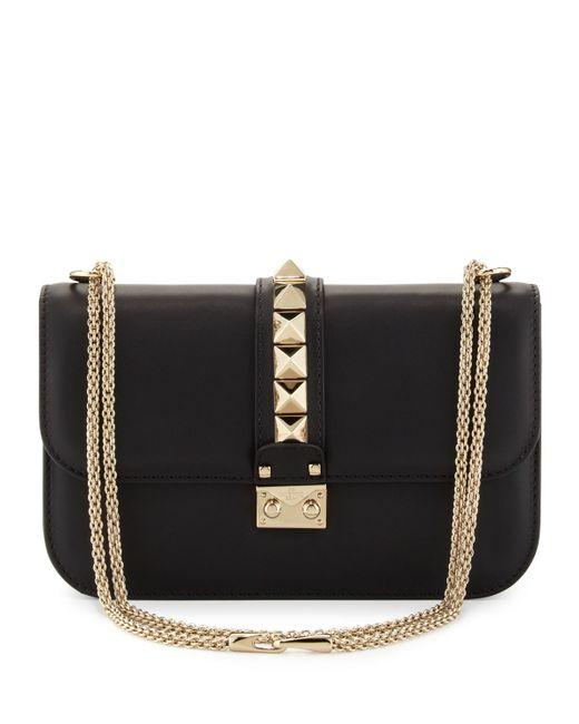 Valentino   Black Rockstud Flap Shoulder Bag   Lyst
