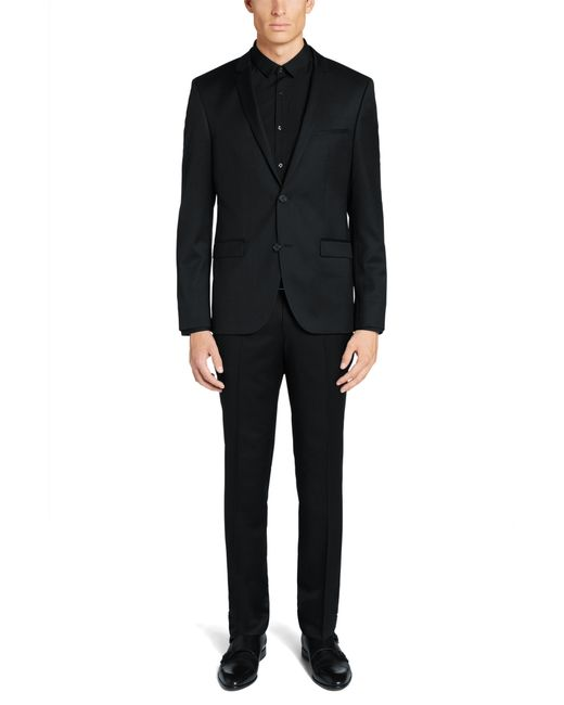 HUGO | Extra-slim-fit Suit In New Wool In Superblack Or Supernavy Quality: 'adris4/heibo3' for Men | Lyst
