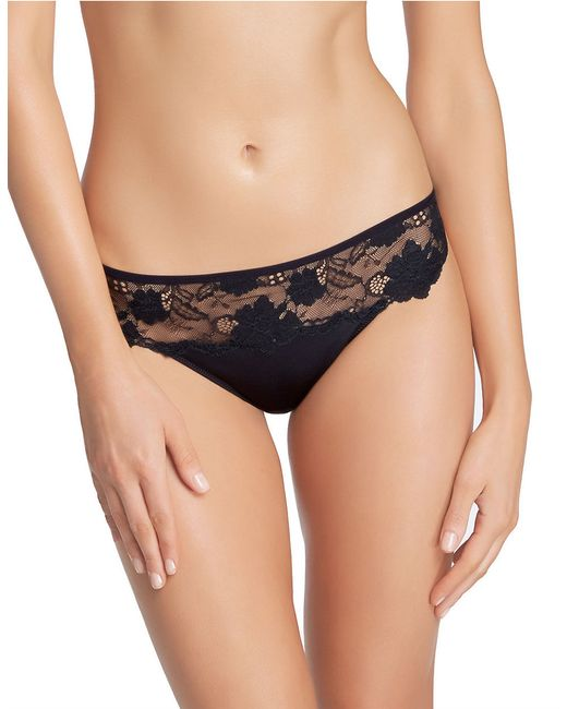 Felina | Black Monica Stretch Floral Thong | Lyst