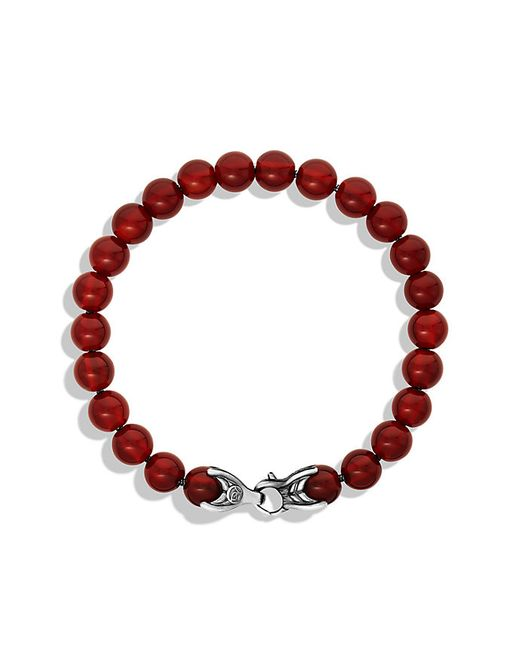David Yurman | Metallic Spiritual Beads Bracelet With Carnelian, 8mm for Men | Lyst
