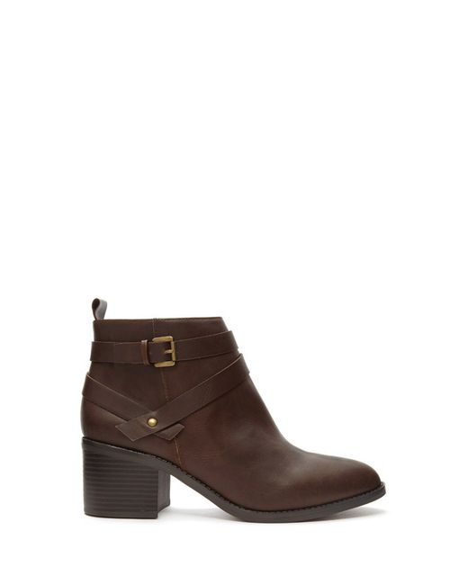 Forever 21 | Brown Buckled Faux Leather Booties | Lyst