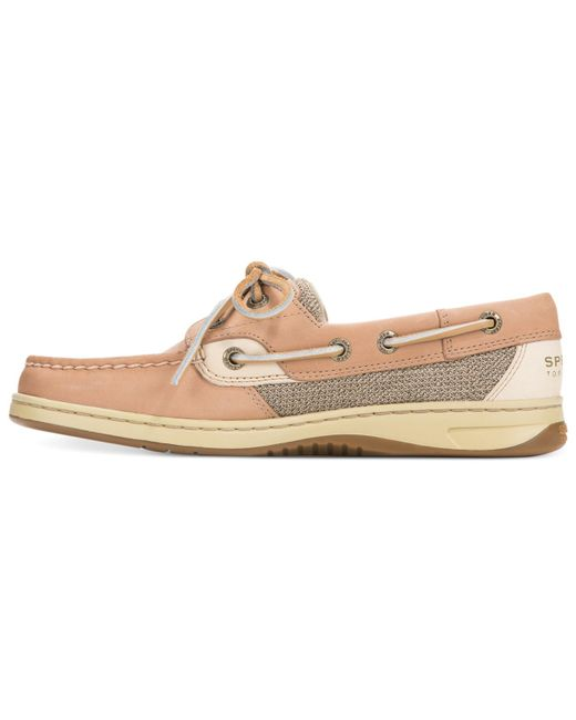 sperry top sider s bluefish boat shoes in beige