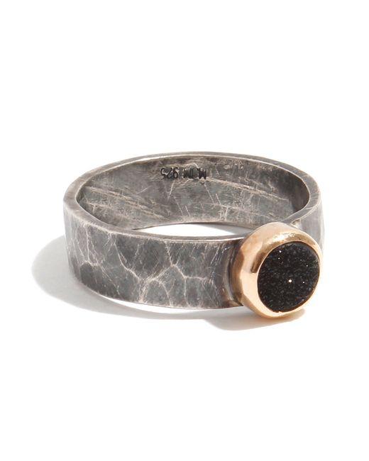 Melissa Joy Manning | Metallic Silver Ring With Black Druzy | Lyst